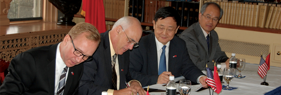 US-China Connection signing